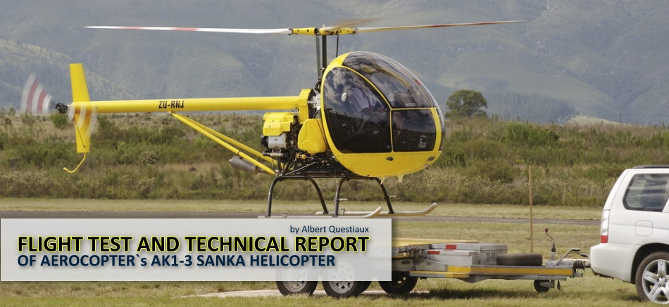 Flight test and technical report of light utility helicopter kit Aerocopter AK1-3