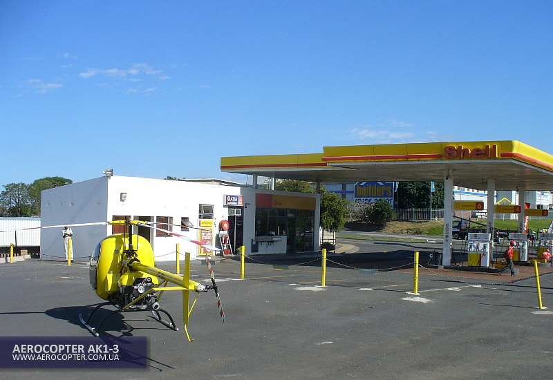 AK1-3 is refuelling at Port Shepstone (car petrol station)